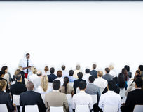 Multiethnic Group of People in Seminar Stock Photography