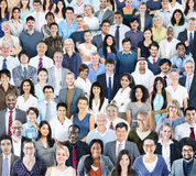 Multiethnic Group of People Smiling Stock Image