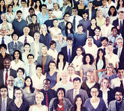 Multiethnic Group of People Smiling Royalty Free Stock Photo