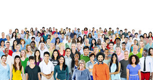 Multiethnic Group of People Smiling Royalty Free Stock Photography