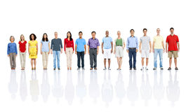Multiethnic Group of People Smiling in a Row Stock Photos