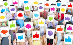 Multiethnic Group of People with Social Media Concept Royalty Free Stock Images