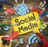 Multiethnic Group of People with Social Media Concept Royalty Free Stock Photo