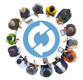 Multiethnic Group of People Social Networking Royalty Free Stock Images