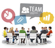 Multiethnic group of People Team Meeting Stock Images