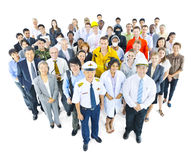 Multiethnic Group of People in Variety Occupation Stock Image
