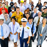 Multiethnic Group of People in Variety Occupation Stock Photography
