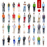 Multiethnic Group of People in Various Jobs Concepts Royalty Free Stock Photography