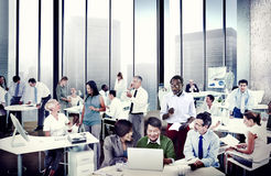 Multiethnic Group of People Working in the Office Royalty Free Stock Image
