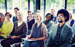Multiethnic Group Seminar Training Boardroom Concept Stock Images