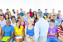Multiethnic Group of Student in Class Stock Image