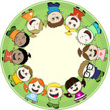 Multiethnic little childs together Royalty Free Stock Photo
