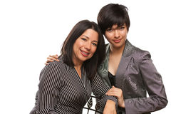 Multiethnic Mother and Daughter Portrait Royalty Free Stock Photos