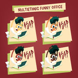 Multiethnic office workers - ASAP Royalty Free Stock Image