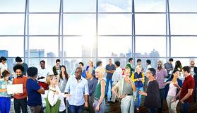 Multiethnic People Business Communication Office. Multiethnic Group of People Business Communication Office Concepts Royalty Free Stock Photos