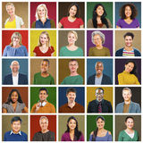 Multiethnic People Colorful Smiling Portrait Concept Royalty Free Stock Photography