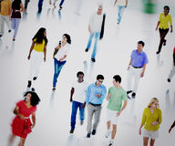 Multiethnic People Commuter Community Walking Concept Royalty Free Stock Photography