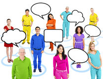 Multiethnic People on Connection Themed Picture Stock Image