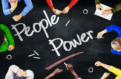 Multiethnic People Discussing About People Power Royalty Free Stock Photo