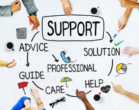 Multiethnic People Discussing About Support Royalty Free Stock Photo
