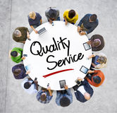 Multiethnic People Discussion with Quality Service Stock Photo