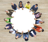 Multiethnic People Forming a Circle Holding Hands Royalty Free Stock Photo