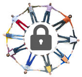 Multiethnic People Forming Circle and Security Concept Royalty Free Stock Photos