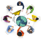 Multiethnic People with Global Communications Stock Photo