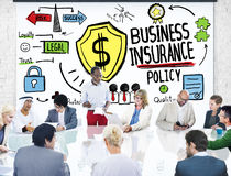 Multiethnic  People Meeting Safety Risk Business Insurance Stock Images