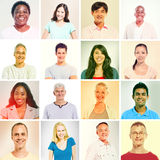 Multiethnic People in Sepia Style Royalty Free Stock Images