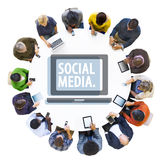 Multiethnic People with Social Media Concept Stock Photography