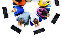 Multiethnic People Using Computers Communication Concept Royalty Free Stock Photo