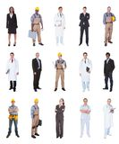 Multiethnic people with various occupations royalty free stock photo
