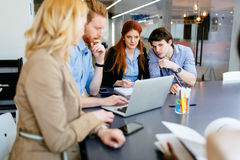 Multiethnic people working in modern office Royalty Free Stock Image
