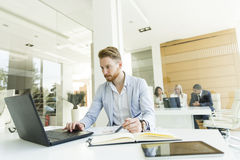 Multiethnic people working in the office Royalty Free Stock Photos