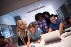 Multiethnic startup business team on meeting Stock Image
