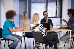 Multiethnic startup business team on meeting Royalty Free Stock Photo
