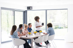 Multiethnic startup business team on meeting Stock Images