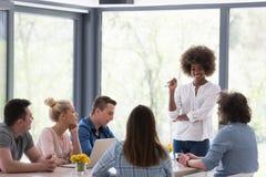 Multiethnic startup business team on meeting Stock Photos