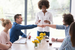 Multiethnic startup business team on meeting Royalty Free Stock Image