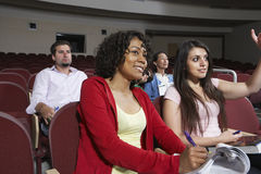 Multiethnic Students Attending Lecture Stock Image