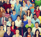 Multiethnic Variation Ethnicity Crowd People Concept Royalty Free Stock Photography