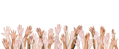 Multiethnic World People's Arms Outstretched Royalty Free Stock Image
