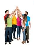 Multiethnische Freunde, die Hoch fünf geben Lizenzfreie Stockbilder