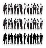 Multiethnische Geschäftsleute Vektor- Stockfotos