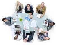 Multiethnische Gruppe Geschäftsleute stockfoto