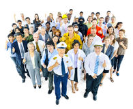 Multiethnische Gruppe von Personen in der Vielzahl-Besetzung lizenzfreie stockfotos