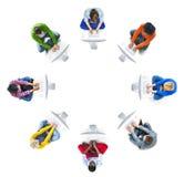 Multiethnische Gruppe von Personen mit Kopien-Raum stockbild