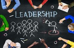 Multiethnische Gruppe von Personenen-und Führungs-Konzepte stock abbildung