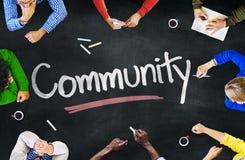 Multiethnische Gruppe von Personenen-und Gemeinschaftskonzepte lizenzfreies stockfoto